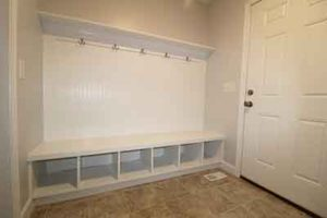 mudroom design, Making New Home Construction Less Stressful